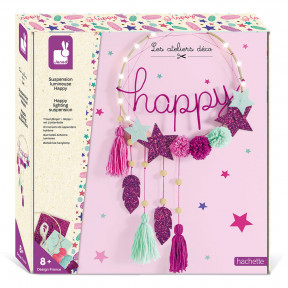 Kit creativo - Adorno colgante luminoso Happy