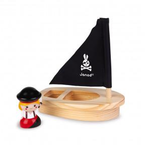 Badespielzeug Wasserspritzer Piraten-Set mit Boot (orange)
