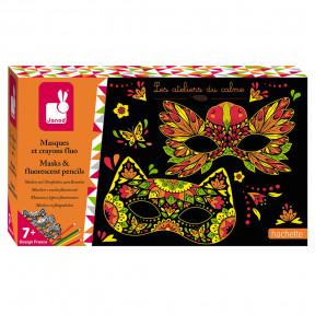 Kit Créatif - Masques et Crayons Fluo