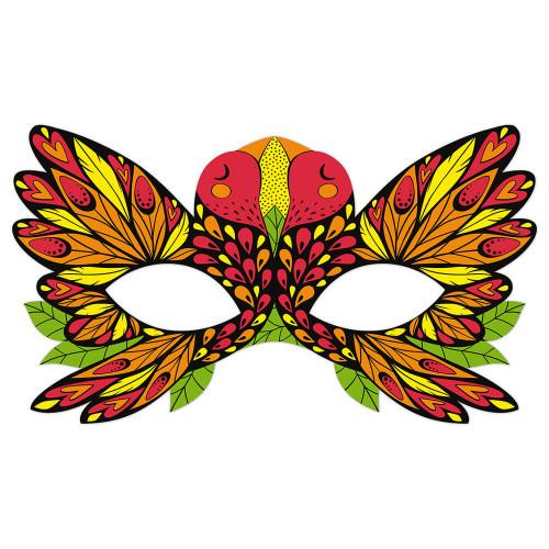 Kit créatif masques et crayons fluo, loisir créatif, masques à colorier, pour enfant dès 7 ans JANOD