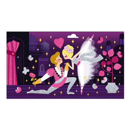 Kit créatif paillettes fluo danseuses, loisir créatif, activité manuelle, pour enfant dès 6 ans JANOD
