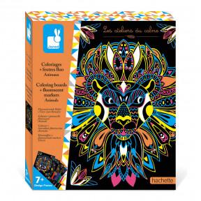 Kit Créatif - Coloriages + Feutres Fluo Animaux