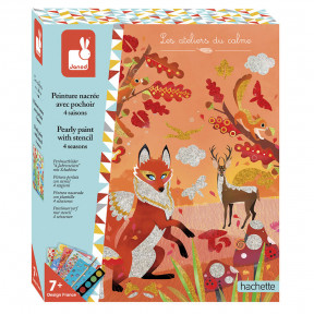 Creative Kit - Pearlescent Painting Set with 4-Seasons Stencil -