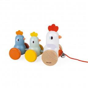 Hühner und Küken zum Ziehen