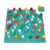 Kubix 40 Würfel + Puzzle aus Pappe Buchstaben/Zahlen (Holz)
