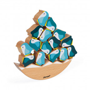 Juego Balancín de madera Pingüinos - Colaboración con WWF®