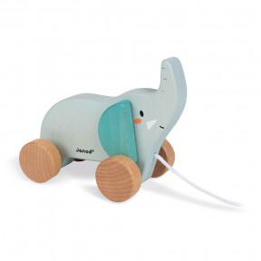 Elefante da trainare in legno - In collaborazione con il WWF®