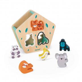 Boîte à formes des animaux en bois - Partenariat WWF®