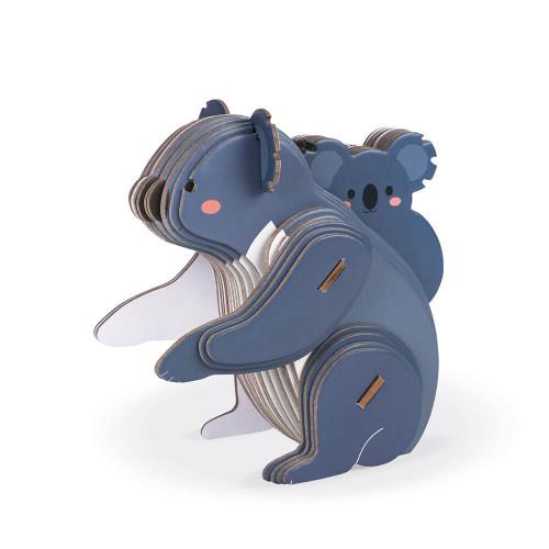 Puzzle Koala 3D à assembler en carton partenariat WWF, jeu de construction, 42 pièces, pour enfant dès 6 ans JANOD