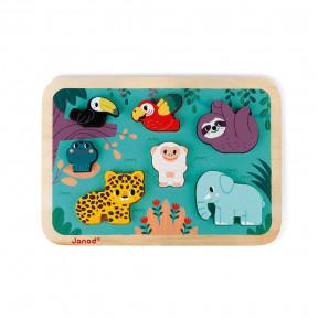 Puzzle Chunky en bois Jungle - Partenariat WWF®