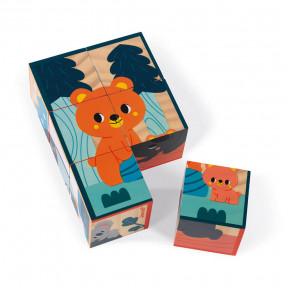 Cubes en bois animaux - Partenariat WWF®