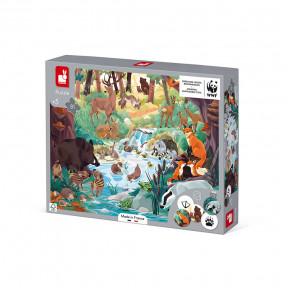 Puzzle les Empreintes des Animaux 81 pièces - Partenariat WWF®