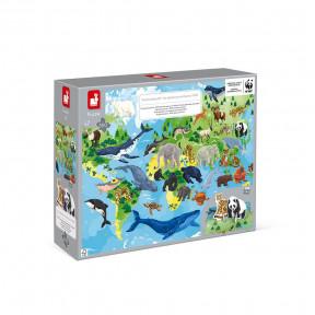 Puzzle éducatif 350 pièces Espèces Prioritaires - Partenariat WWF®