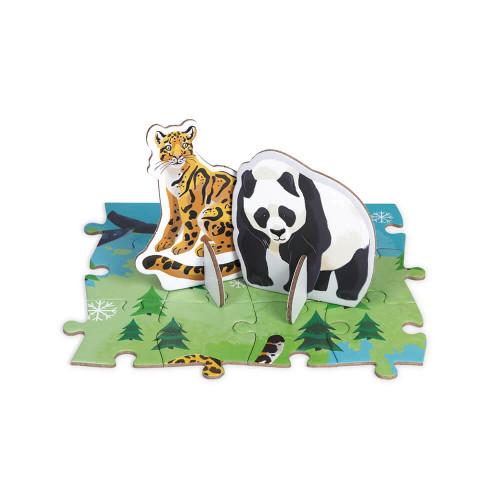 Puzzle éducatif 350 pièces les espèces Prioritaires partenariat WWF, carton FSC, made in France, motricité fine, livret inclus,