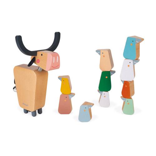Buffalo jeu d'équilibre en bois, jeu d'adresse, jeu en famille, pour enfant dès 3 ans JANOD