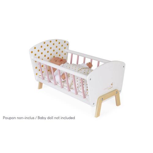 Lit Candy Chic pour poupon en bois rose blanc enfant à partir de 3 ans