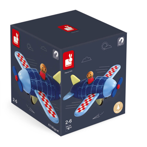 Kit Magnet - Avion (bois)
