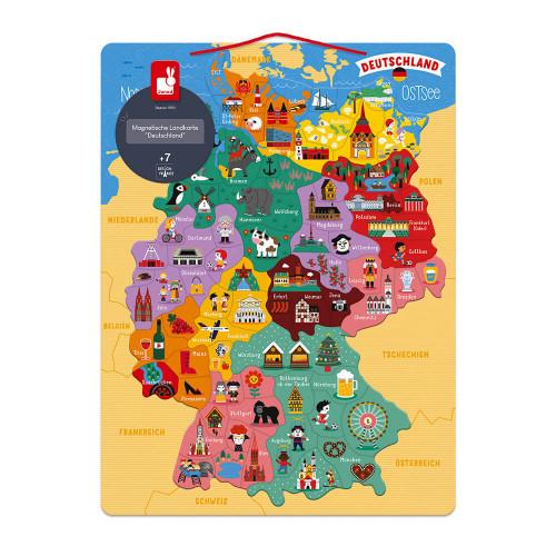 Carte d'Allemagne Magnétique (bois)