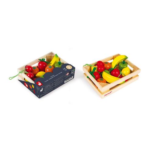 Cagette de 12 fruits (bois)