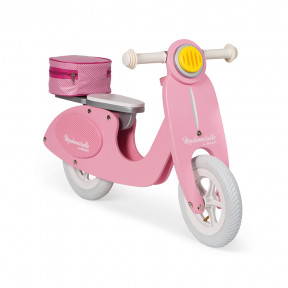 Mademoiselle Pink Scooter Balance Bike (wood)
