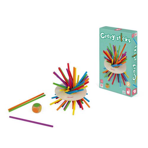 Jeu d'Adresse - Crazy Sticks en bois, jeu de société, famille, motricité, pour enfant à partir de 3 ans JANOD