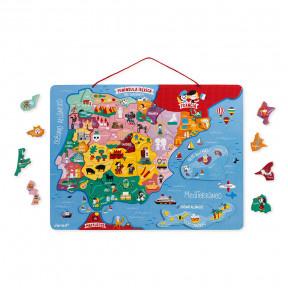 Magnetische Landkarte Spanien 50 Teile (Holz)