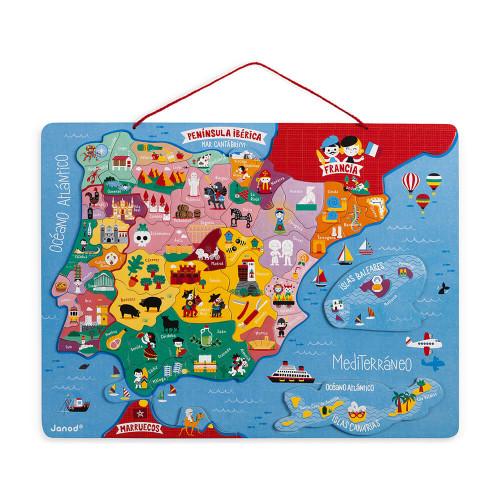 Carte d'Espagne Magnétique 60 pcs (bois)