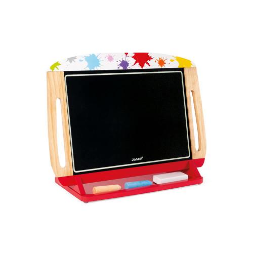 Ardoise de table en bois, magnétique, craie, feutre, dessin, tableau, double-face, pour enfant dès 3 ans JANOD