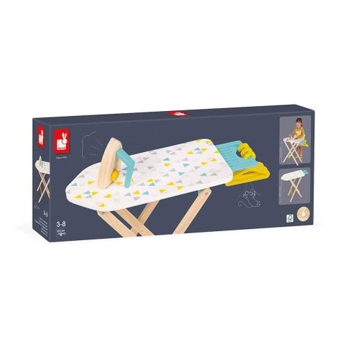 Table à repasser en bois, imitation ménage nettoyage, pour enfant à partir de 3 ans JANOD