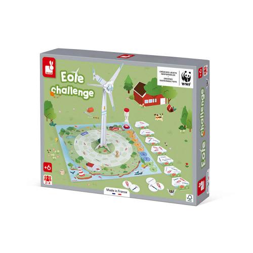 Jeu de coopération Eole Challenge partenariat WWF, certifié FSC, made in France, jeu de société, stratégie, pour enfant dès 6 an