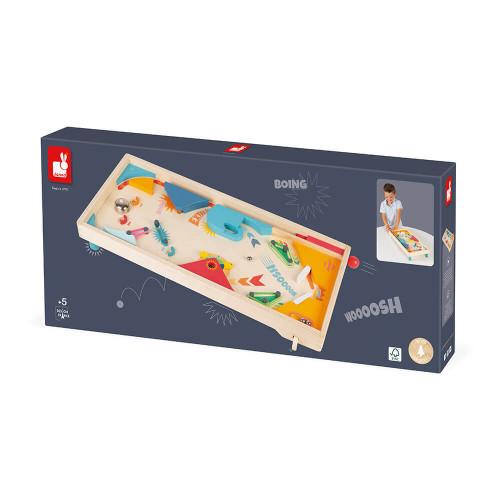 Flipper en bois FSC, arcade, vintage, jeu d'adresse, pour enfant à partir de 5 ans JANOD