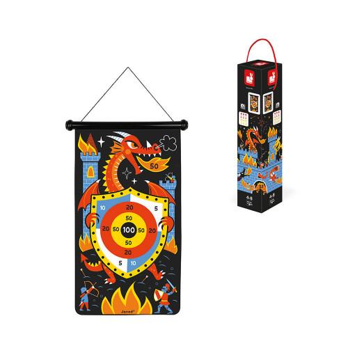 Jeu de fléchettes magnétiques Dragons, plein air, jeu de société, motricité pour enfant dès 4 ans JANOD