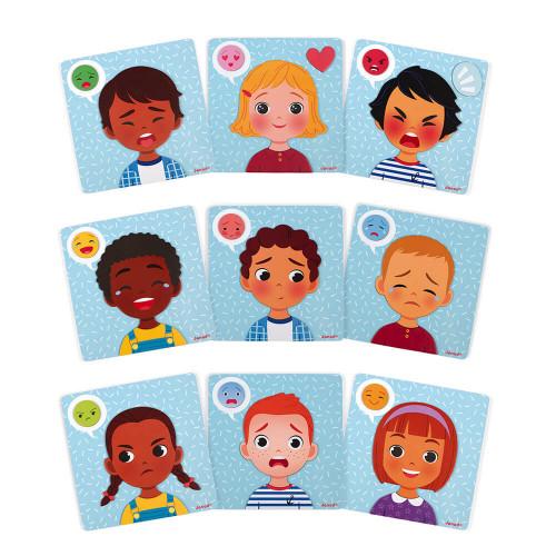 Jeu Magnétique des Émotions, carton, magnets, éducatif, éveil, pour enfant à partir de 2 ans JANOD