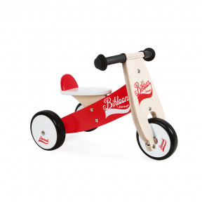 Little Bikloon Red and White Ride-On (wood)