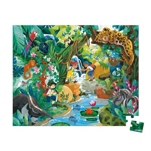 Puzzle à la découverte d'un temple incas en carton FSC, 100 pièces, encre végétale made in france, pour enfant dès 6 ans JANOD
