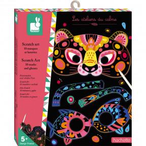 SCRATCH ART ANIMAL MASKS AND GLASSES