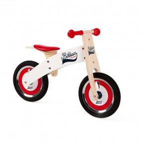Bikloon Laufrad Groß Weiß/Rot (Holz)