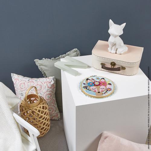 Kit Créatif Tambour en Feutrine et Broderie, loisir créatif, couture tricot, pour enfant dès 8 ans JANOD