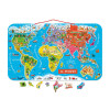 Magnetic World Map Puzzle Italian Version 92 pieces (wood)
