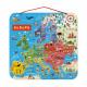 Carte d'Europe Magnétique en bois, italien, puzzle géographie, 40 magnets, enfant à partir de 7 ans JANOD