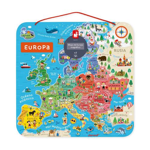 Carte d'Europe Magnétique Espagnol (bois)