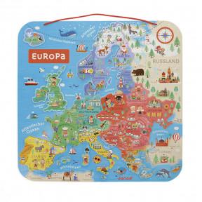 Carte d'Europe Magnétique Allemand (bois)