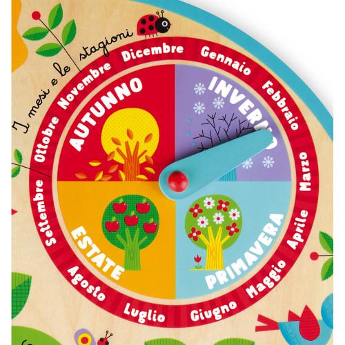 Calendrier Au Fil du Temps Italien (bois)