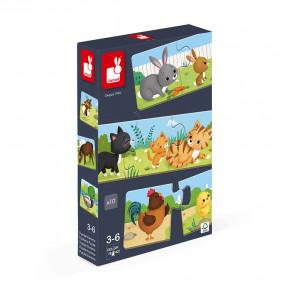 Kombinationsspiel Tier-Puzzle Trionimo 30 Teile