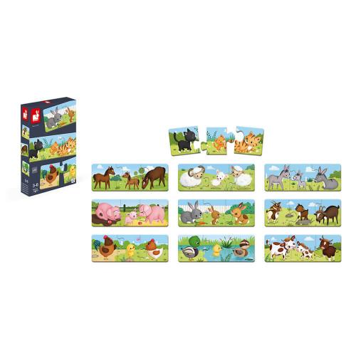Jeu d'association - puzzle Trionimo 30 pièces
