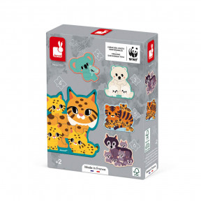 Graded animal puzzles (2-6 pieces) - In partnership with WWF®