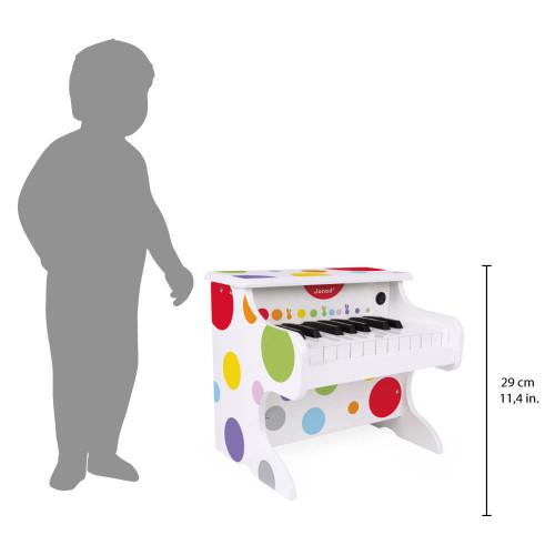 Mon premier piano électronique en bois, imitation instrument de musique, éveil sonore musical, pour enfant dès 3 ans JANOD