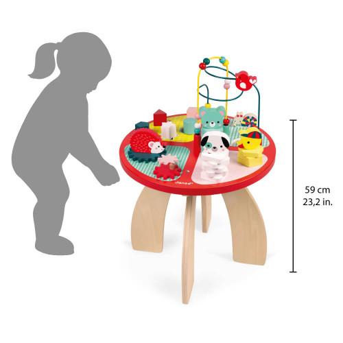Table d'activités Baby Forest en bois éveil enfant à partir de 1 an