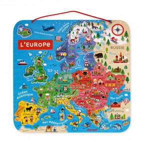 Mappa Magnetica Dell'Europa in francese - Solo in francese