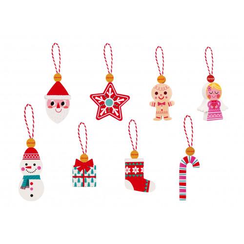 8 décorations de de Noël (bois)
